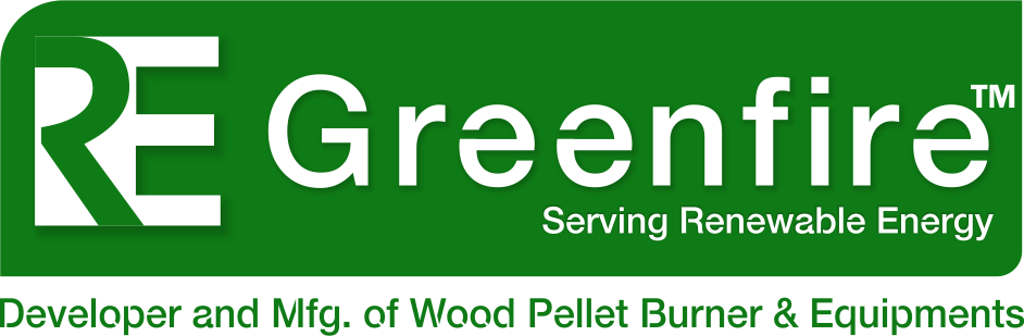RE Greenfire Logo,Pellet Burner, Industrial Pellet Burner, Wood Pellets Burner, Industrial Burner Manufacturer